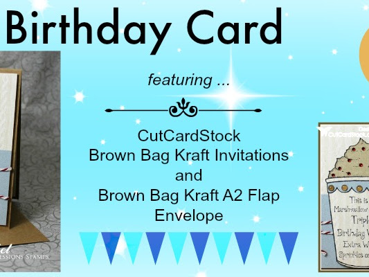 Brown Bag Kraft Birthday Card ...