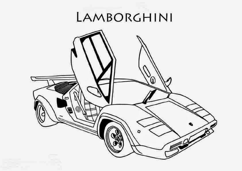 Fond Ecran Coloriage De Voiture Lamborghini