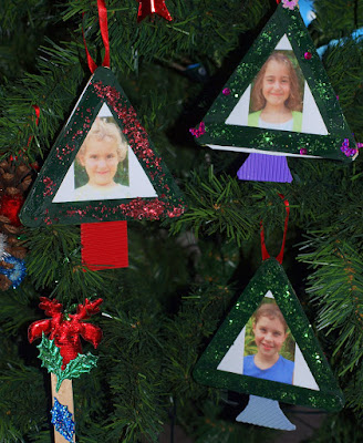 Christmas Tree Photo Frames Craft For Kids