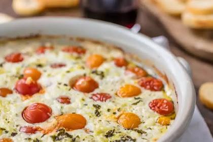 Garlic Herb Tomato Goat Cheese Dip