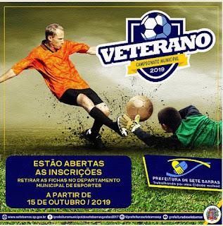 Abertas as inscrições para o Campeonato de Futebol Veteranos 2019