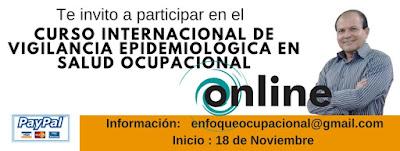 Curso Internacional de Vigilancia Epidemiológica  en Salud Ocupacional Totalmente on Line