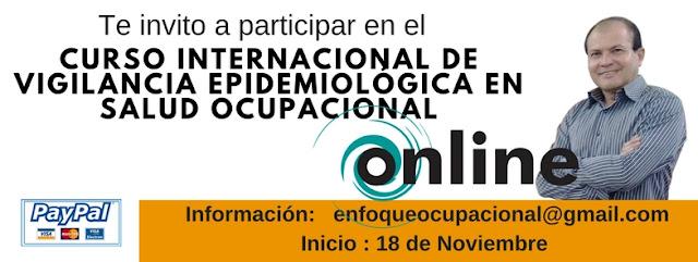Curso Internacional Virtual de Vigilancia Epidemiológica en Salud Ocupacional. 18 de Noviembre