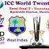 Prediction West Indies vs India, 2nd Semi-Final Series: ICC World T20, 2016 Venue: Wankhede Stadium, Mumbai Date & Time: Mar 31,  07:00 PM  LOCAL