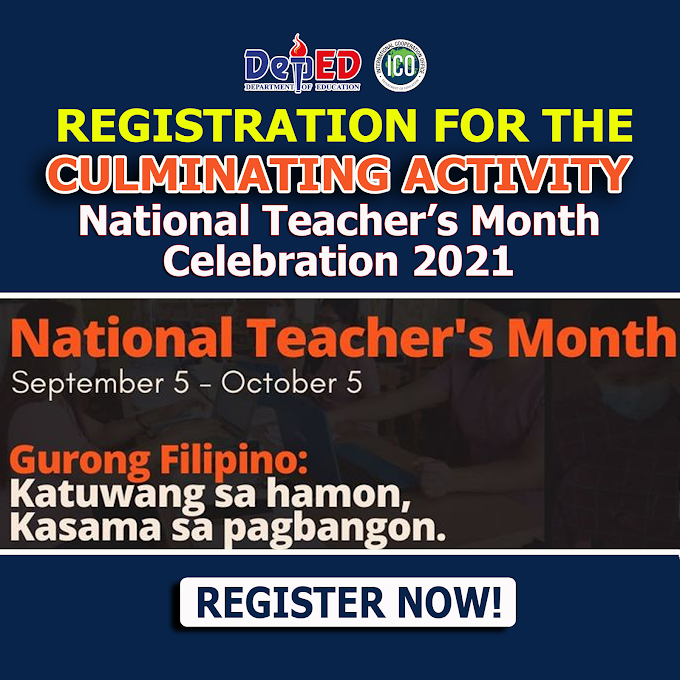Registration for National Teachers Day| World Teachers Day Culminating Activity on October 5 | REGISTER NOW!