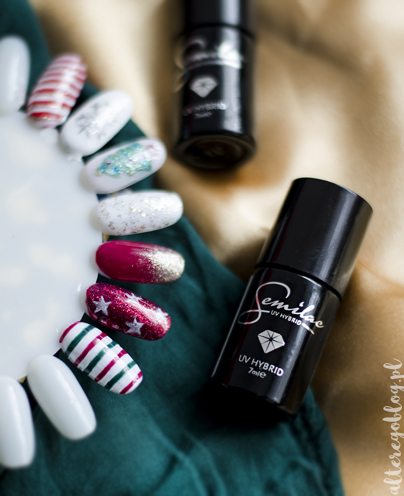 paznokcie na swieta, manicure na swieta, manicure na swieta zdjecia