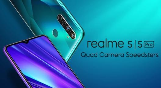 Realme 5 dan Realme 5 Pro Siap Meluncur, Hadir dengan Empat Kamera!