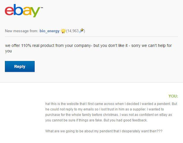 Warning - Scalar Pendants Ebay On Fake Energy Understanding