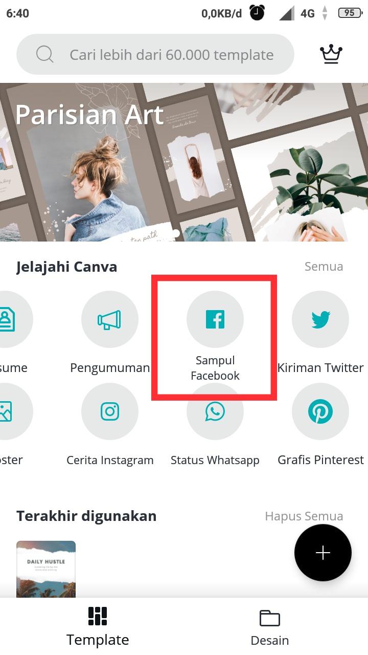 Cara membuat foto sampul Facebook sendiri