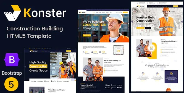 Best Construction Building Bootstrap Template