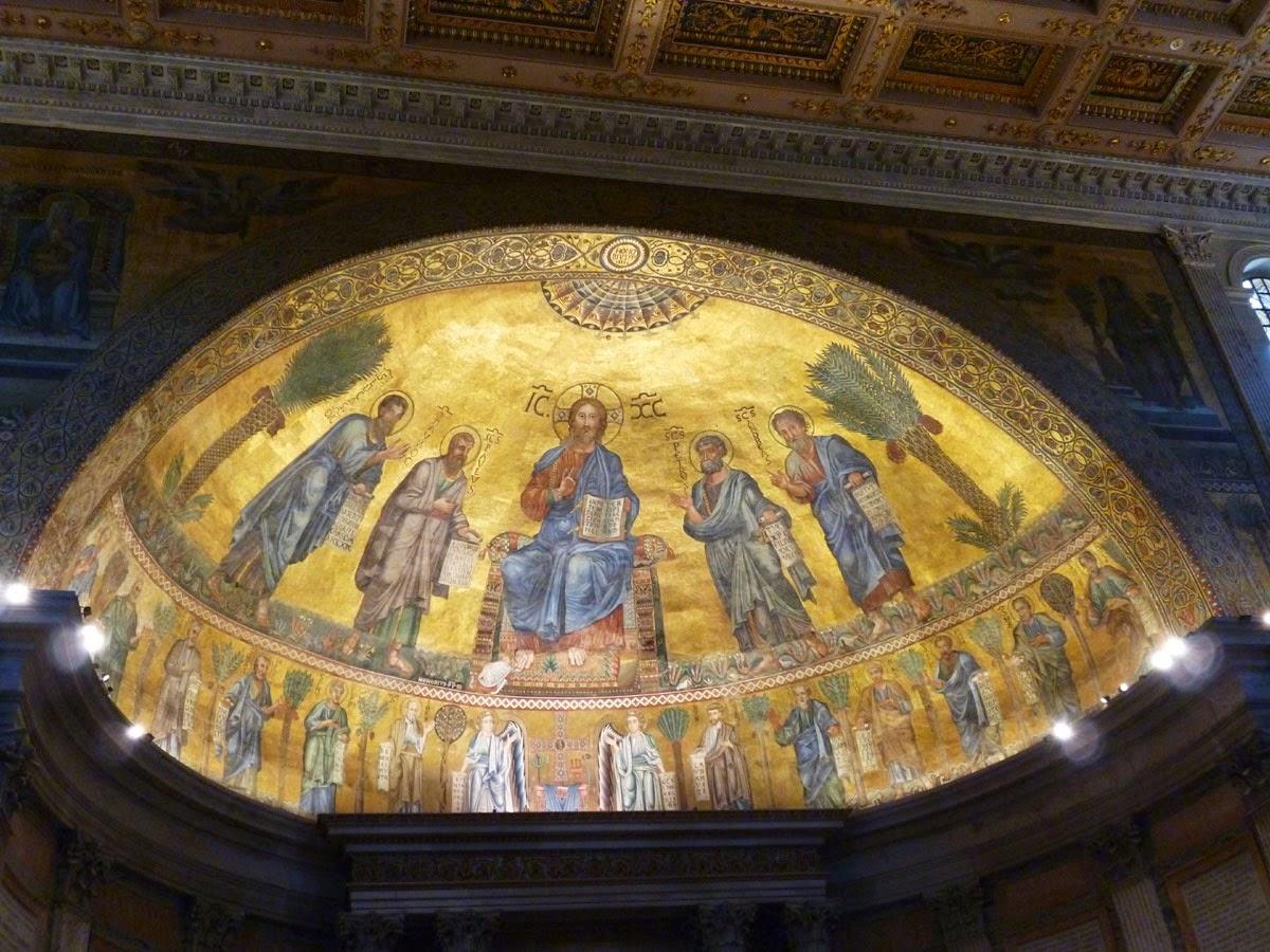 A técnica dos Mosaicos medievais em Roma -Mosaico São Paulo Fora dos Muros