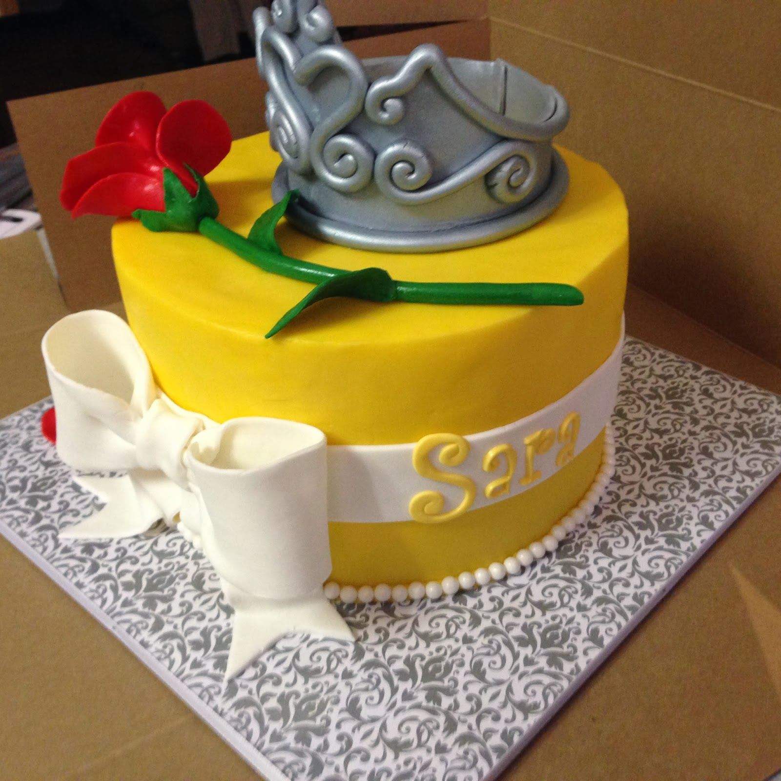 Cakes By Mindy Beauty And The Beast Cake 8 Quot