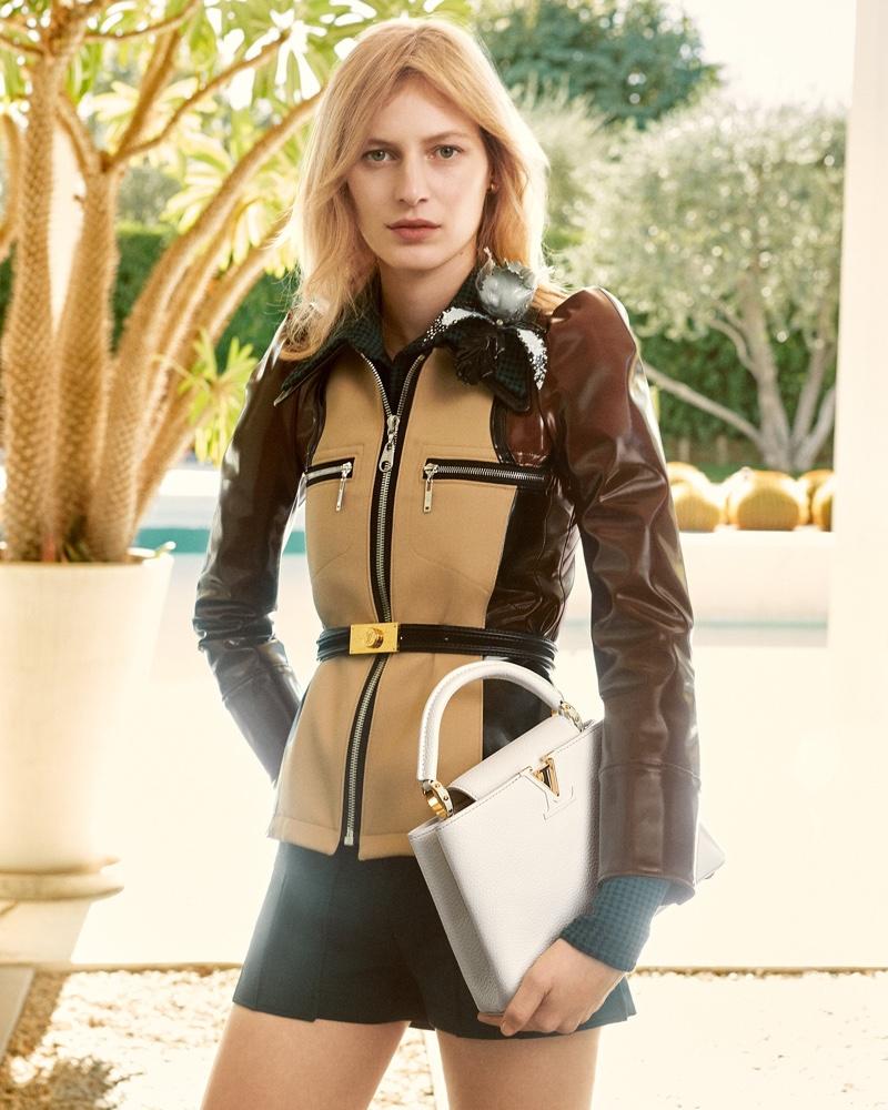 Model Julia Nobis fronts Louis Vuitton Capucines spring-summer 2020 campaign