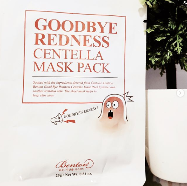 Benton Cosmetics Goodbye Redness Centella Mask Pack Review