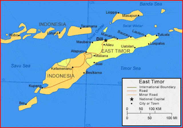 image: East Timor Map