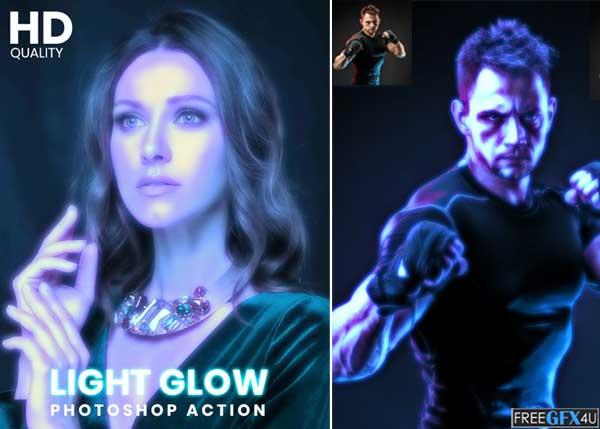 Light Glow Photoshop Action