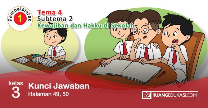 Kunci Jawaban Tema 4 Kelas 3 Halaman 49, 50