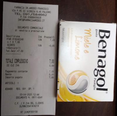 Caramelle BENAGOL pagate prima 5,50 - dopo 7€