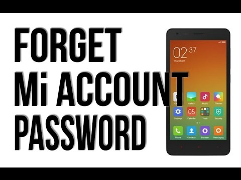 Cara Reset Password Mi Account Karena Lupa Passwod - Xiaomi Tips