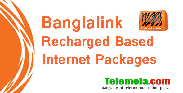 Banglalink recharge based internet packages