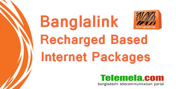 Banglalink recharge based internet packages