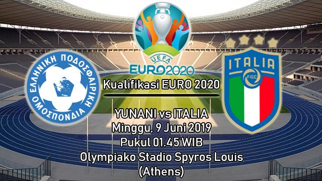 Prediksi Kualifikasi EURO 2020 Yunani vs Italia (9 Juni 2019)