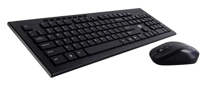 HP 4SC12PA wireless keyboard and mouse combo.