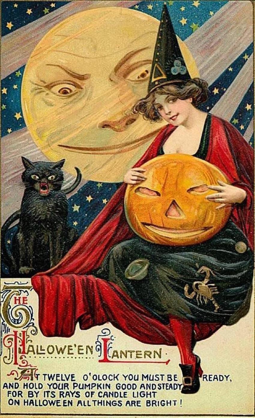 Старинные открытки в честь Хэллоуина - 11
