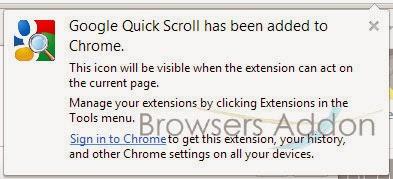 Google Quick Scroll_install_success