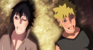 Sasuke mati, Naruto mati, tangan sasuke putus, akhir pertempuran