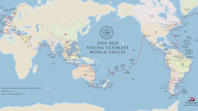 Viking Cruises' Viking Sun's Ultimate World Cruise Lasting 245 Days
