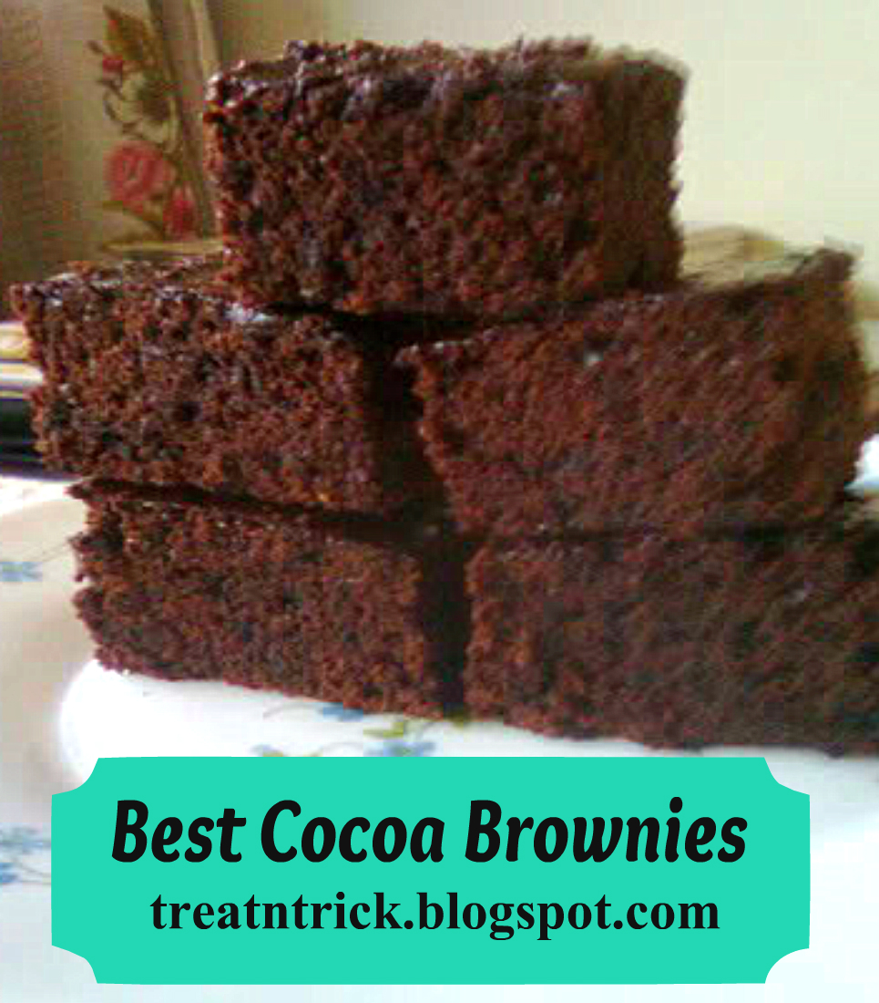 TREAT & TRICK: BEST COCOA BROWNIES