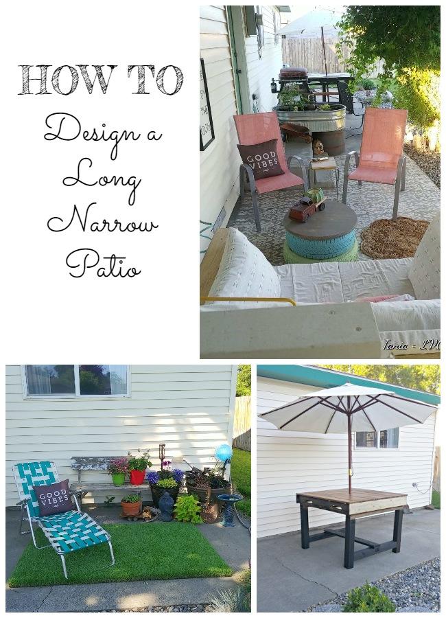 How to Design a Long Narrow Patio