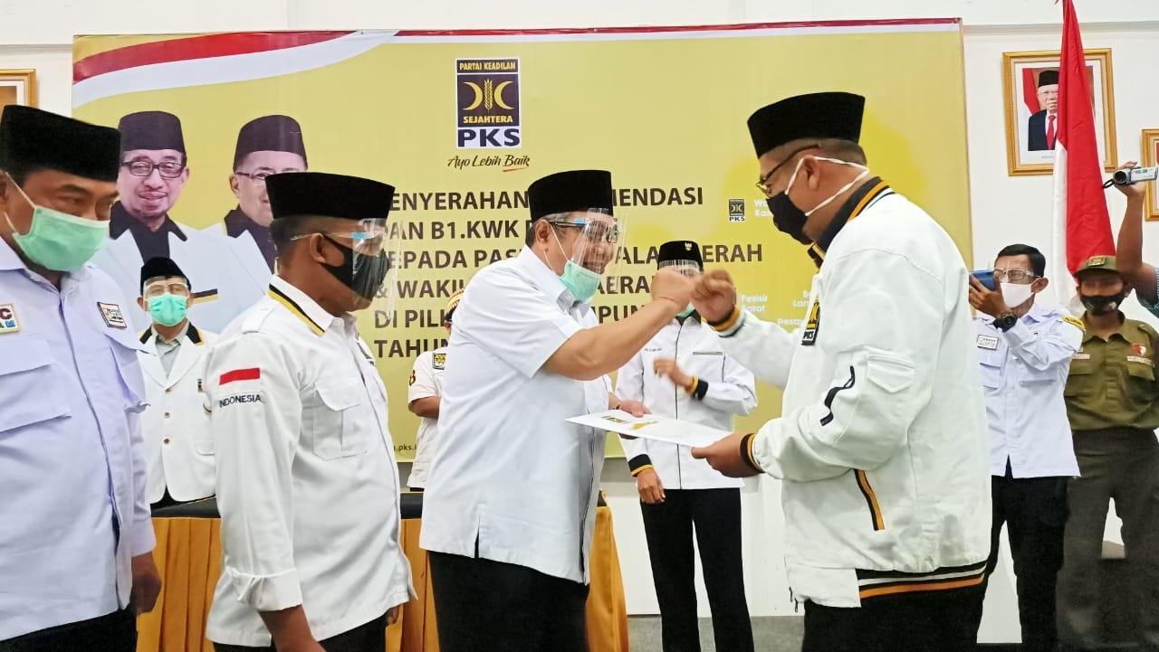 Serahkan Form B1.KWK, PKS Intruksikan Kemenangan Tony-Antoni Di Pilkada Lampung Selatan.