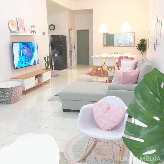 Lingkar Warna 7 Desain Interior Rumah Minimalis Type 36 72 Atau 36 60 Tema Pink Soft