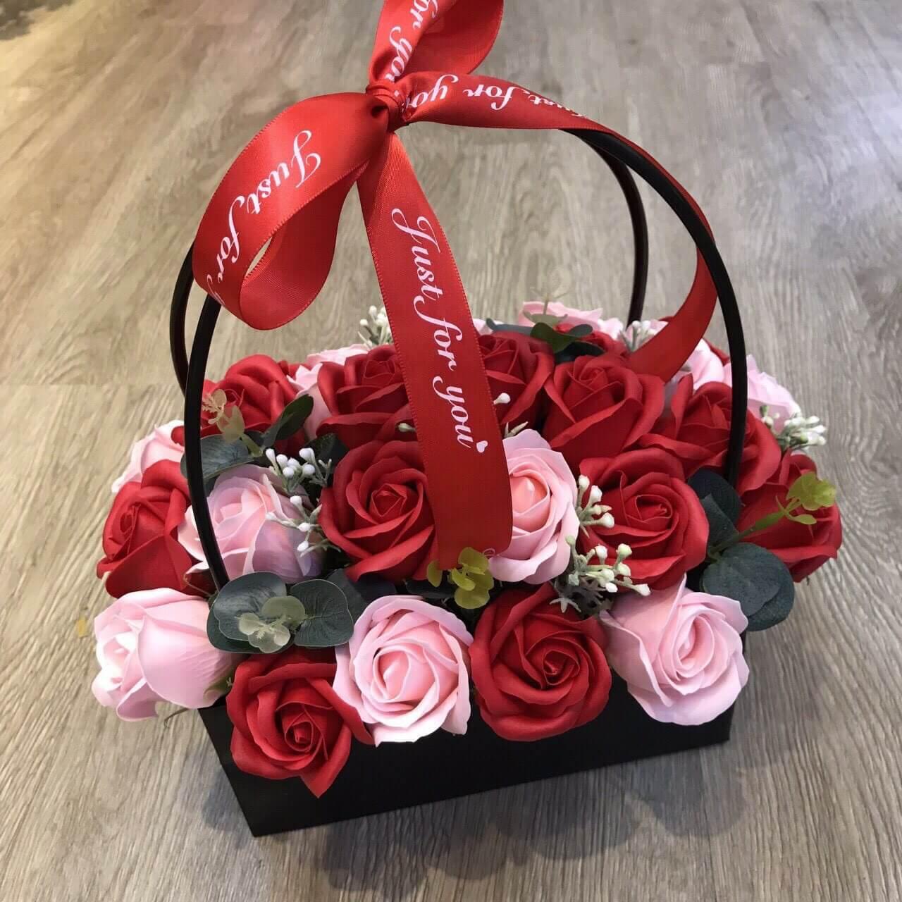 Hoa hồng lẵng 30 bông