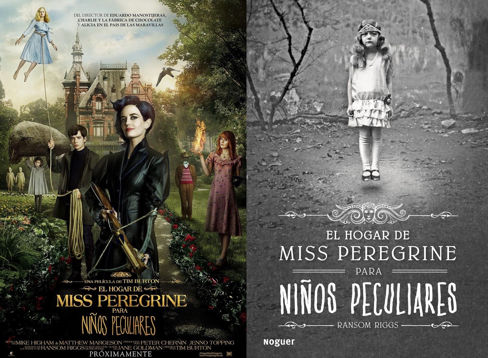 """Se habla de libros: 5 Diferencias en """"El hogar de Miss Peregrine para niños  Peculiares"""" Libro y Película"""