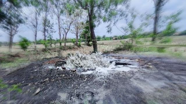 Muncul Semburan Lumpur dan Gas di Indramayu, Warga Diminta Tak Mendekat