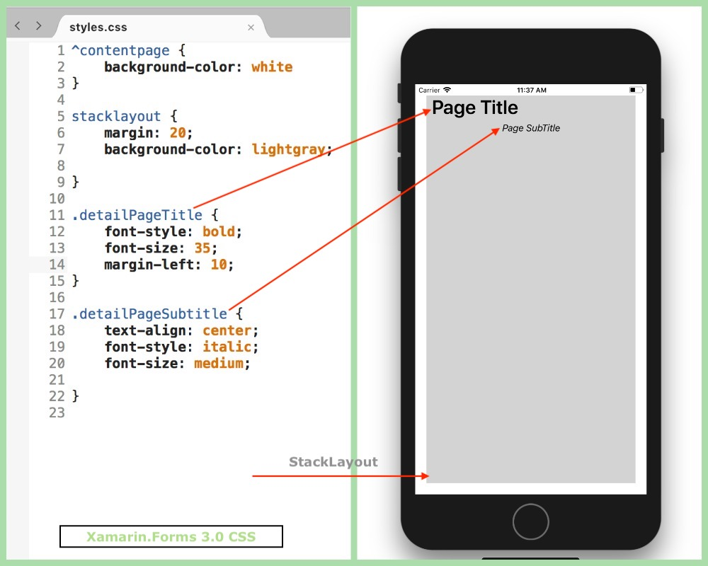 Xamarin Forms 3 0: Styling apps using Cascading Style Sheets for