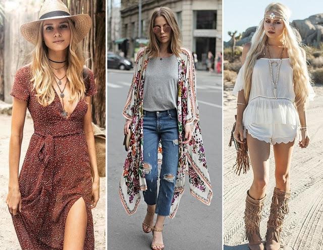 Tendência de moda primavera verão 2018 - boho chique