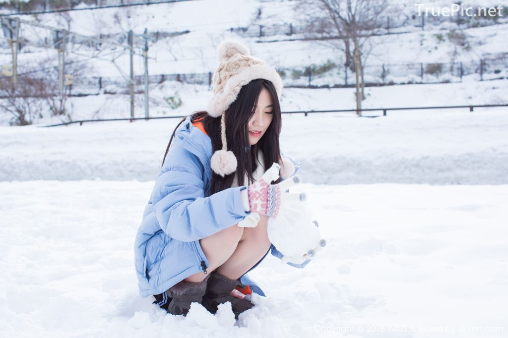 Image-IMISS-Vol.262-Sabrina model–Xu-Nuo-许诺-Sparkling-White-Snow-TruePic.net- Picture-10