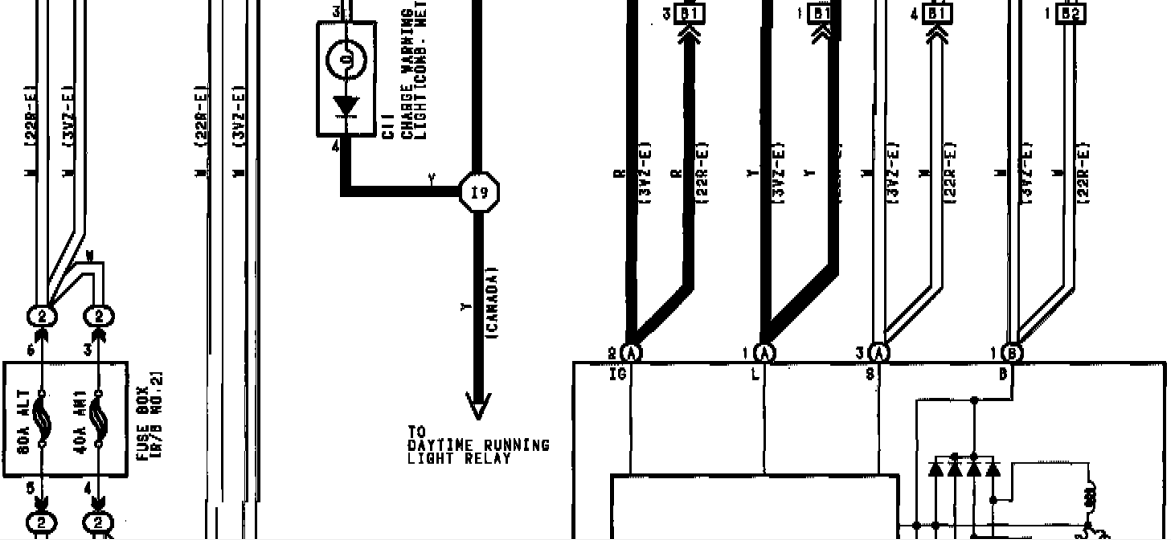 1994 Toyota Pickup Hilux Charging System wiring Diagram