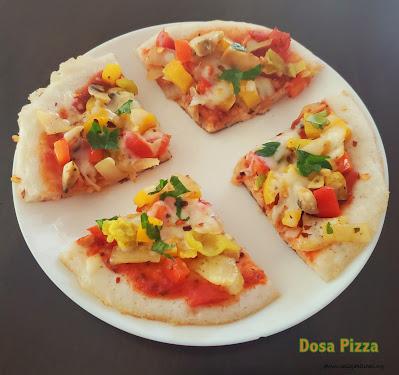 images of Idli Pizza Recipe / Idli Pizza / Pizza Idli / Vegetable Idli Pizza  and Dosa Pizza / Pizza Dosa - Kids Friendly Recipes