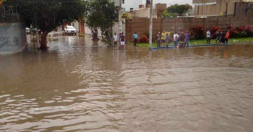 CHICLAYO BAJO EL AGUA: Piden declarar en emergencia por daños causados por fuertes lluvias
