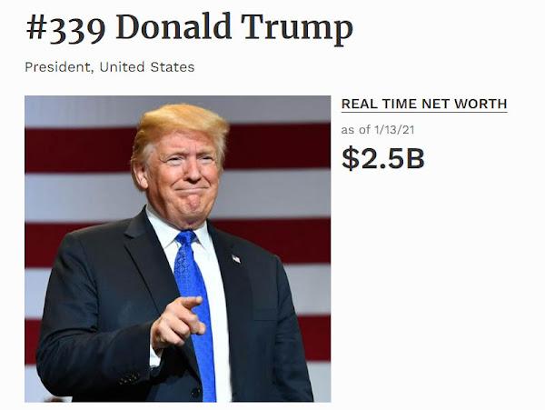 Размер состояния Дональда Трампа