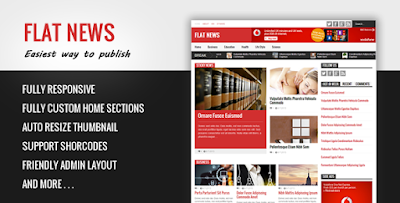 FlatNews - Magazine Blogger Template