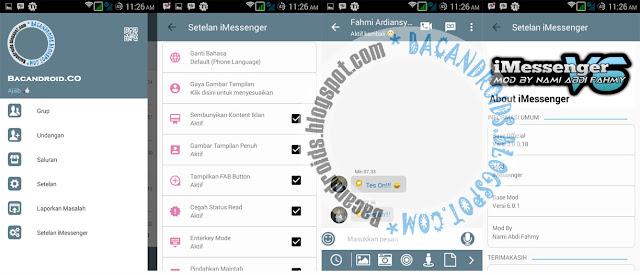 Download BBM Mod iMessenger Theme V6 Full fitur 3.0.0.18