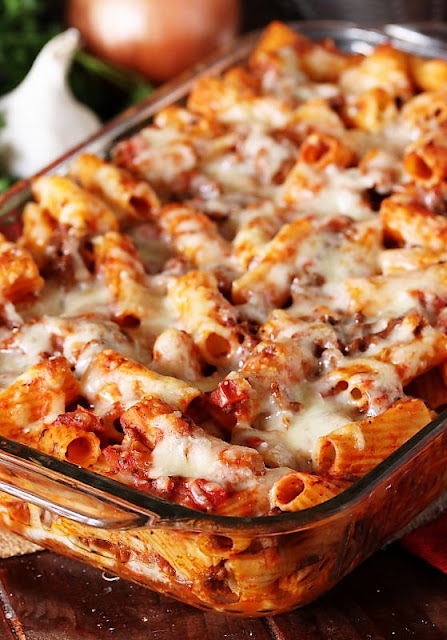 Easy Baked Mostaccioli with Cheese Image