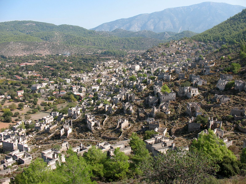 kayakoy ghost town, kayakoy turkey ghost town, kaya turkey,