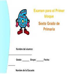 Examenes Sexto grado primaria 2017-2018